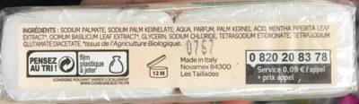 Savon Doux aux extraits de Menthe Bio et Basilic Bio (Lot de 2) - 2