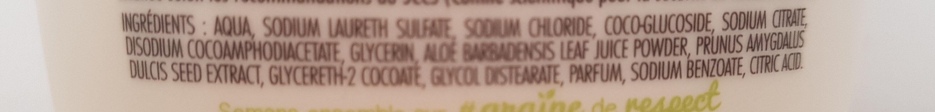 Crème lavante mains hydratante - Ingrédients - fr
