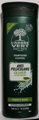 shampooing homme anti pelliculaire olivier & saponine - Produit - fr