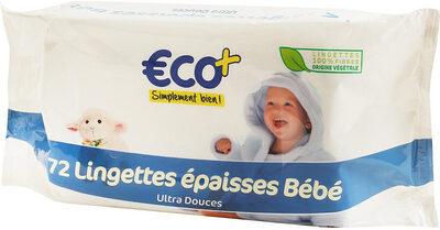 72 lingettes épaisses bébé ultra douces - Product