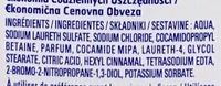 Gel douche senteur Amande - Ingredients