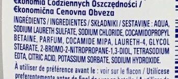 Gel douche peaux sensibles - Ingredients