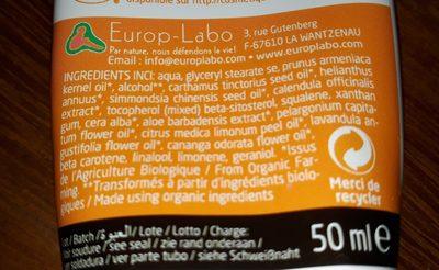 Phytonorm Crème Hydra Douceur Au Souci Bio - Ingredients
