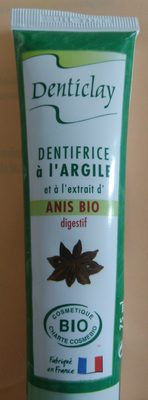 Dentifrice à l'argile et à l'extrait d'anis bio - Product - fr