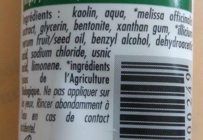 Dentifrice à l'argile et à l'extrait d'anis bio - Ingredients - fr