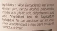 Gel 98% d'Aloe vera - Ingredients - fr