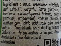 shampooing cheveux gras Argile et romarin - Ingredients