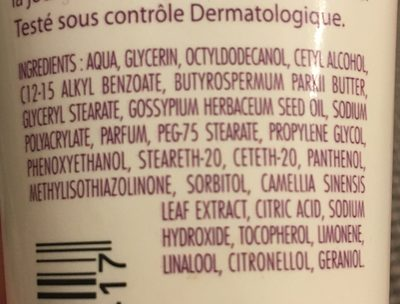 Soin hydratant main - Ingredients - fr