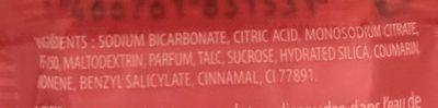 Je suis Gourmande Galet effervescent Cerise Amande - Ingredients - fr