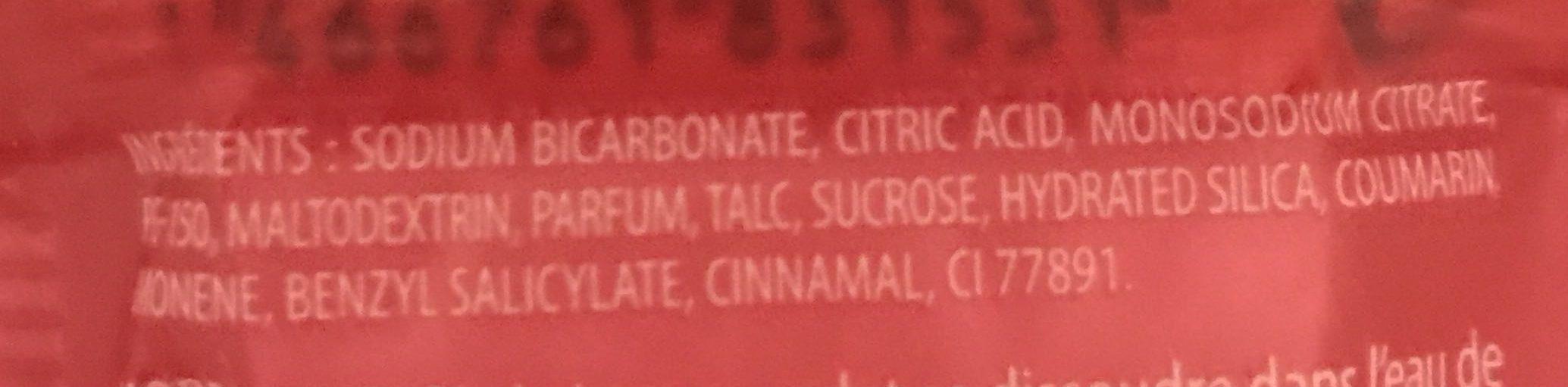 Je suis Gourmande Galet effervescent Cerise Amande - Ingredients
