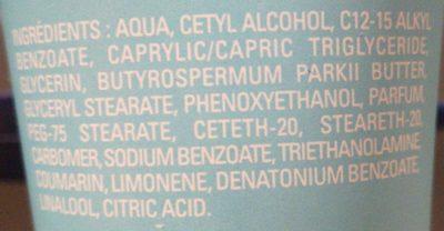Crème douceur main - Ingredients