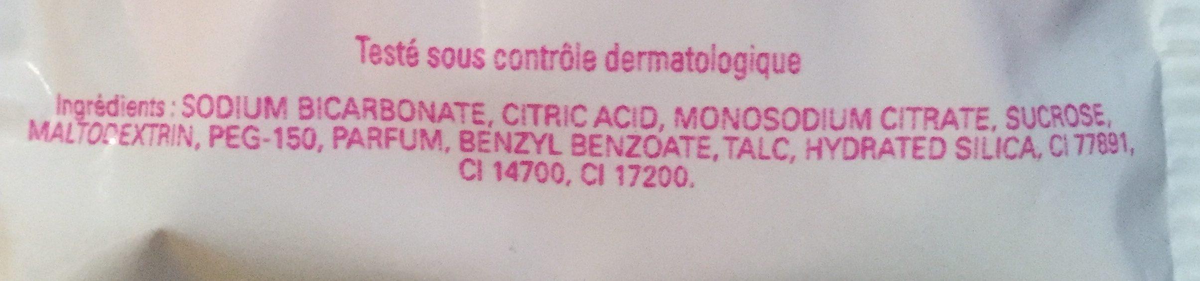 Les délices galet effervescent pour le bain - Ingredients