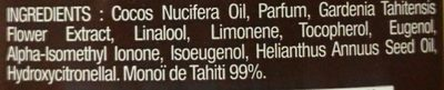 Véritable Monoï de Tahiti - Ingredients