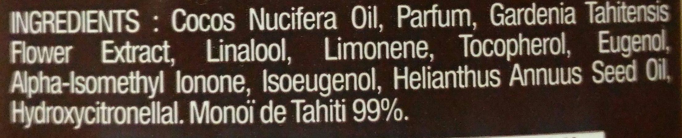 Véritable Monoï de Tahiti - Ingredients