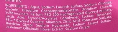 Ma Toilette Intime Douche Corps & Intimité Douceur à la fleur de jasmin - Ingredients