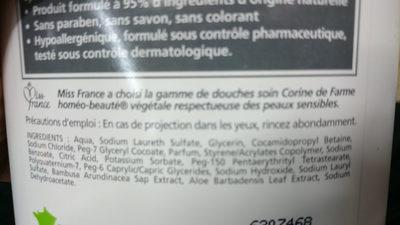 Douche Soin Fraîcheur CORINNE DE FARME - Ingredients - en