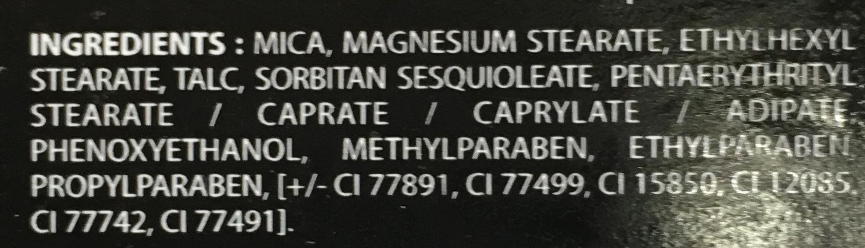 Palette féerique - Ingredients