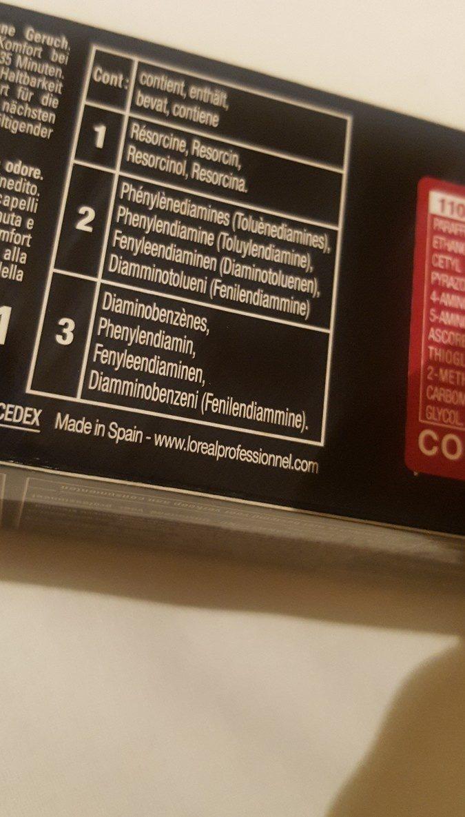 Coloration Inoa 5.60 - L'oréal Pro (60ml) - Ingredients - fr