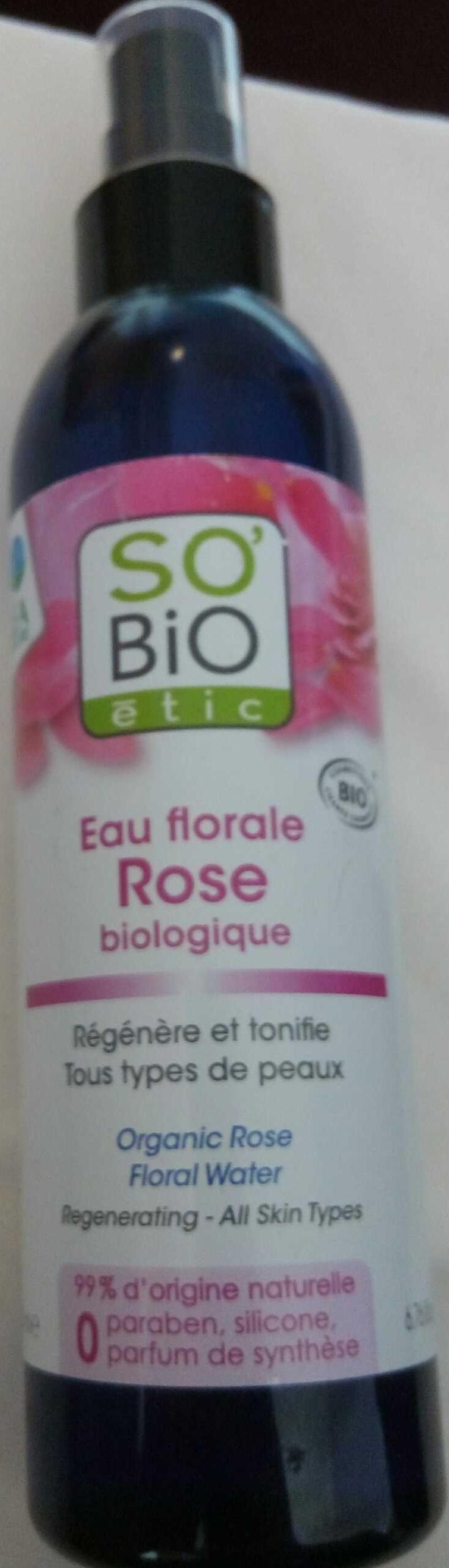 Eau florale Rose biologique - Product