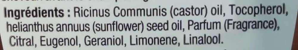 Huile de ricin - Ingredients