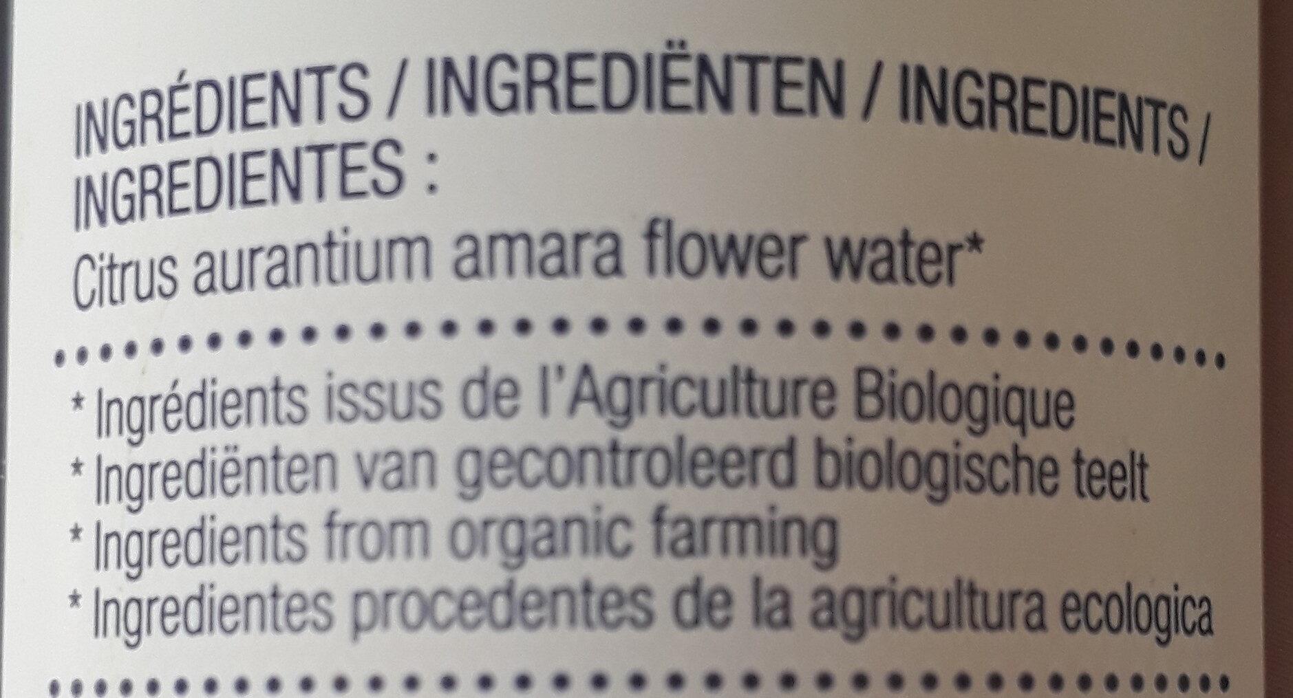 Eau de fleur d'oranger - Ingrédients - fr