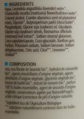 Baume demelant Karité - verveine - citron - Ingrédients