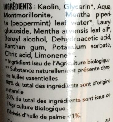 Dentifrices Menthe Fraîcheur BIO - Ingrédients - fr