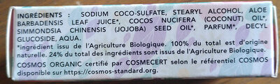 Shampoing solide cheveux secs - Ingredients - fr