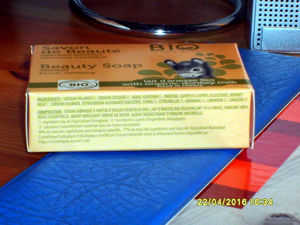 Savon de beauté  Verveine exotique Lait d'ânesse bio - Ingredients - fr