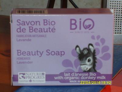 Savon bio de beauté  Lavande et lait d'ânesse bio - 1