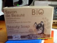 Savon de beauté sans parfum au beurre de karité bio lait d'ânesse bio - Product - fr