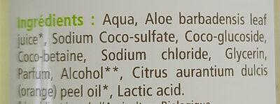 Shampooing gel douche Aloe vera - Ingredients - fr