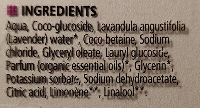 Lavandin de Provence - Ingredients