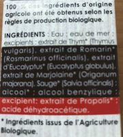 Spray Nasal - Flacon 15 ML - Laboratoire Phytoceutic - Ingredients