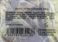 Savon cube lavande 300g - Ingredients - fr