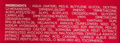 Gel fermeté corps - Ingredients