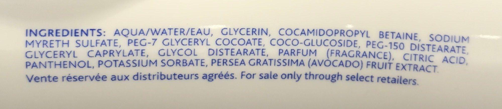 Gel lavant doux - Ingredients