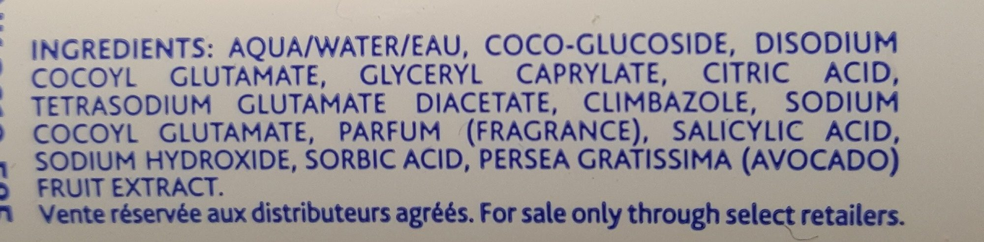 Mustela Shampooing Mousse Nourrisson - Ingredients