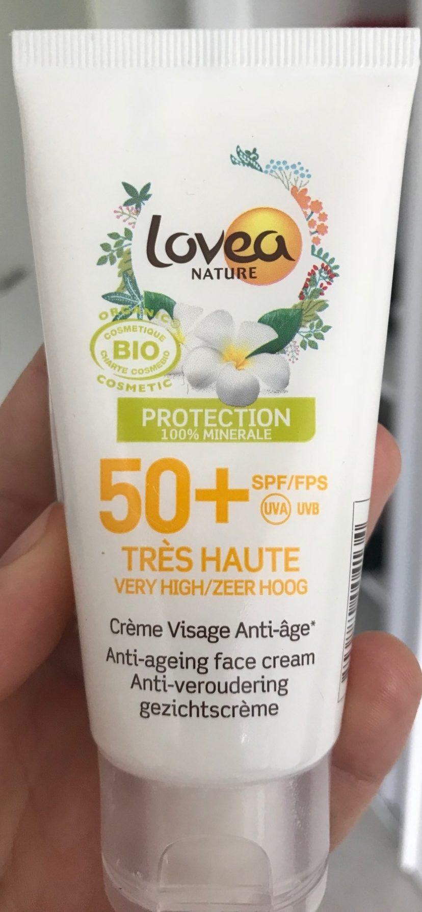 Crème visage Protection 100% Minérale SPF 50+ - Product
