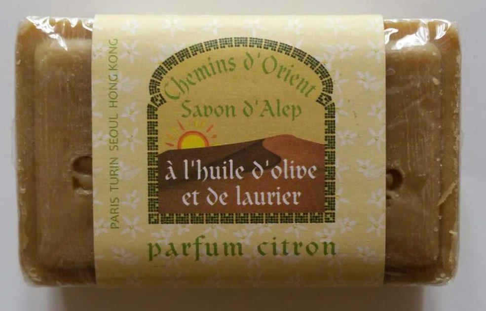 Savon d'Alep à l'huile d'olive et de laurier parfum citron - Produit - fr