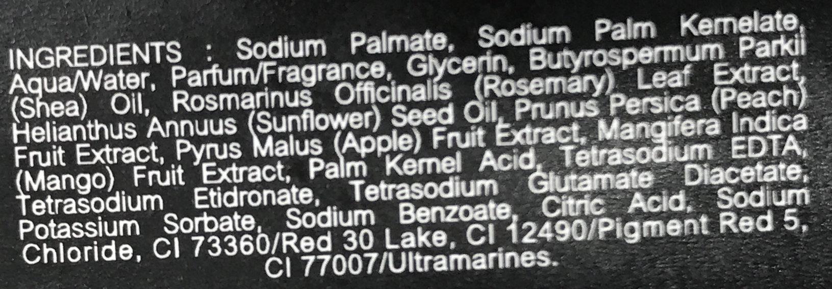 Savon Framboise - Ingredients