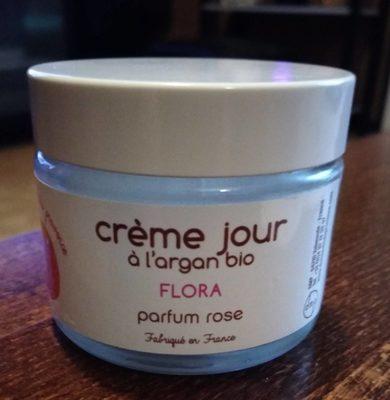 Flora : crème jour à l'argan bio parfum rose - 1