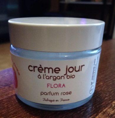 Flora : crème jour à l'argan bio parfum rose - Produit