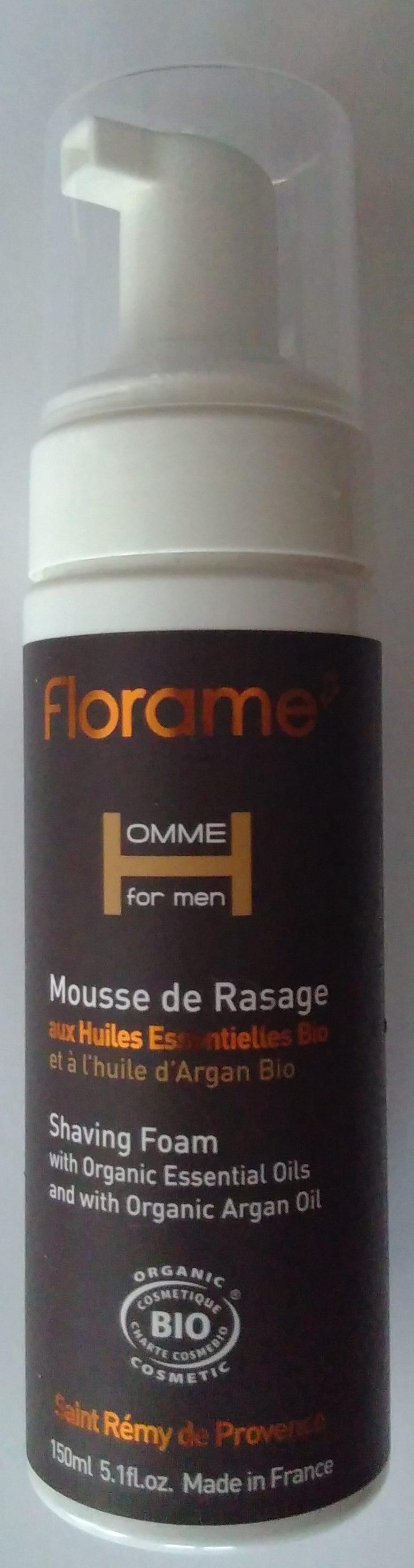 Mousse de rasage aux huiles essentielles bio et à l'huile d'argan bio - Produit