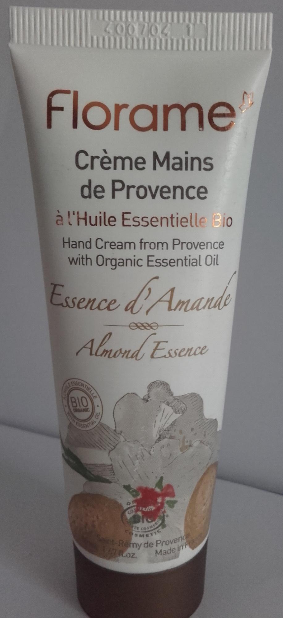 Crème mains de Provence Essence d'amande - Produit