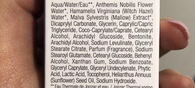 Jonzac Rehydrate Light Moisturizing Cream Bio 50ML (sensitive Skin) - Ingredients
