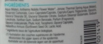 REhydrate Lait corps réhydratant - Ingrédients
