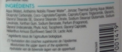 REhydrate Lait corps réhydratant - Ingredients - fr