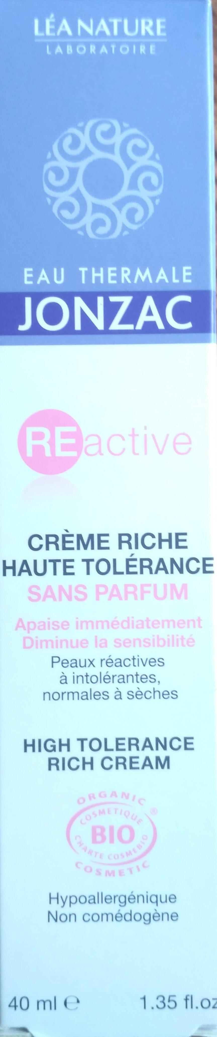 Crème riche haute tolérance - Produit - fr