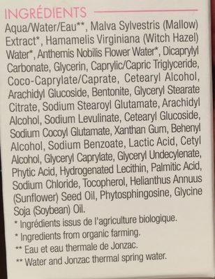 Jonzac Reactive Bio High Tolerance Light Emulsion 40ML (intolerant Skin) - Ingredients